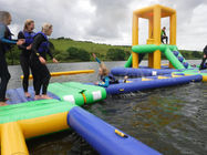 Lake Floating Inflatable Water Park / Inflatable Water Games For Adults And Kids