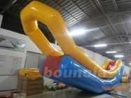 Durable PVC Tarpaulin Long Inflatable Water Slide For Seaside