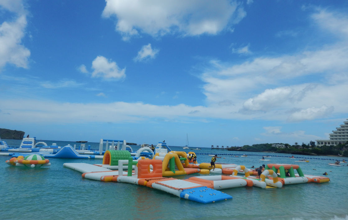 Bouncia Kids And Adults Inflatable Floating Water Parks For Seaside