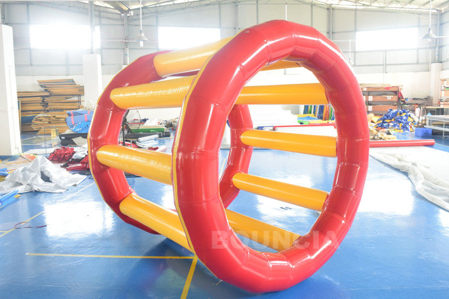 PVC Tarpaulin Inflatable Hamster Wheel For Outdoor Water Activity