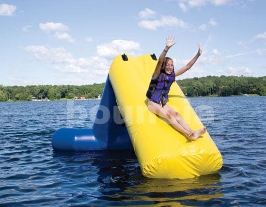 Kids Airtight Inflatable Floating Water Slide For Lake